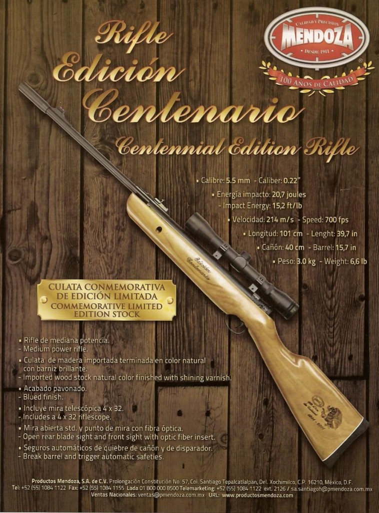 Venta de rifles Centenario